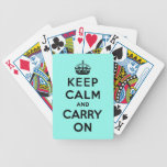 keep calm and carry on playing cards