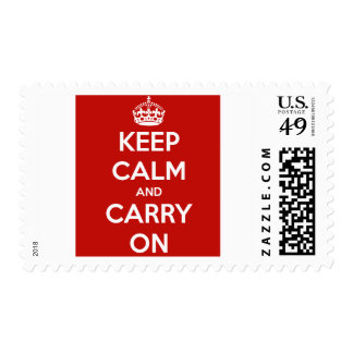 Keep Calm And Carry On Postage