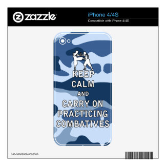 Keep Calm and Carry On Practicing Combatives Skin For iPhone 4S