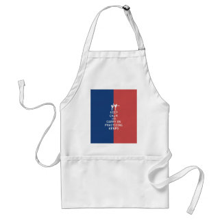 Keep Calm and Carry On Practicing Kenpo Adult Apron