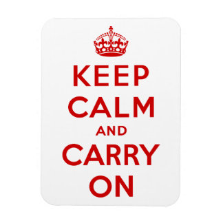 Keep Calm and Carry On Premium Magnet