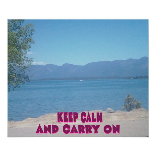 Keep Calm and Carry on. Print