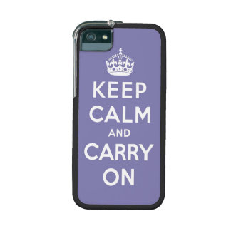 keep calm and carry on -  Purple and white Case For iPhone 5