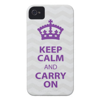 KEEP CALM and CARRY ON, Purple iPhone 4/4s iPhone 4 Case