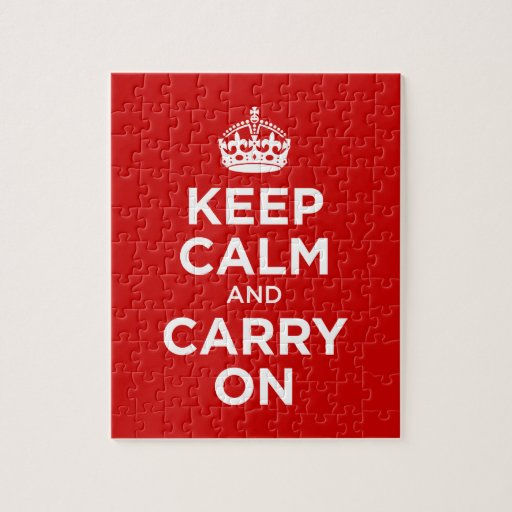 Keep Calm and Carry on Jigsaw Puzzles