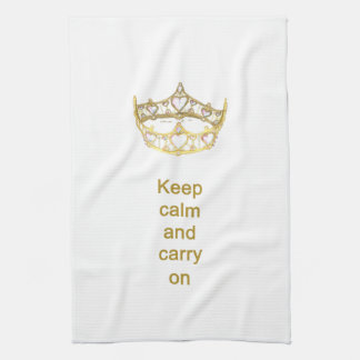 Keep calm and carry on Queen crown kitchen towel