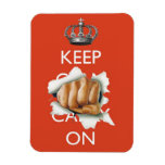 Keep (Calm and Carry) On! Rectangle Magnet