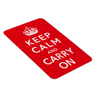 Keep Calm and Carry On Rectangle Magnets