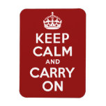Keep Calm and Carry On Rectangular Photo Magnet