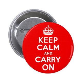 Keep Calm and Carry On Red 2 Inch Round Button