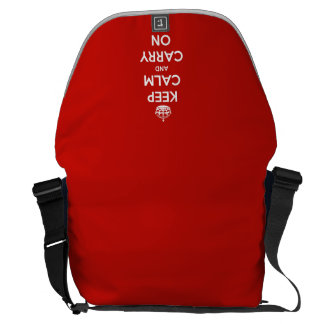 Keep Calm and Carry On Red Courier Bag
