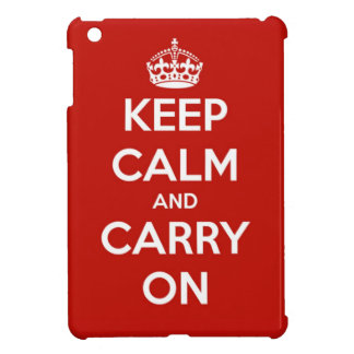 Keep Calm and Carry On Red iPad Mini Case