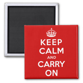 Keep Calm and Carry On Refrigerator Magnet