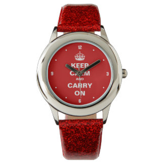 Keep Calm and Carry on - Retro English Style Watch