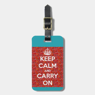Keep Calm and Carry On Retro Tags For Bags
