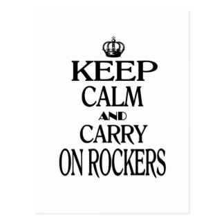 Keep Calm and Carry On Rockers Postcard