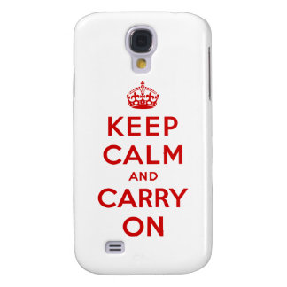 Keep Calm and Carry On Samsung Galaxy S4 Case