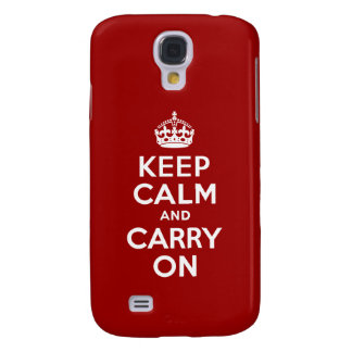 Keep Calm and Carry On Samsung Galaxy S4 Cover