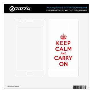 Keep Calm and Carry On Samsung Galaxy SII Skin Samsung Galaxy S II Skin