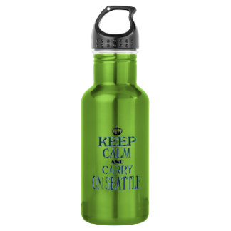 Keep Calm and Carry On Seattle Stainless Steel Water Bottle