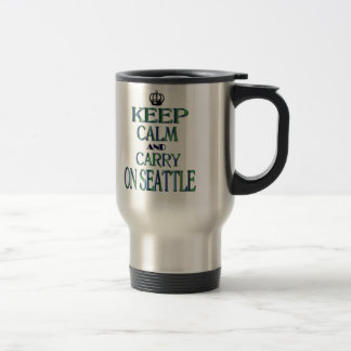Keep Calm and Carry On Seattle Travel Mug