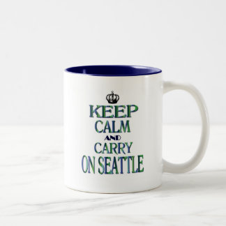 Keep Calm and Carry On Seattle Two-Tone Coffee Mug