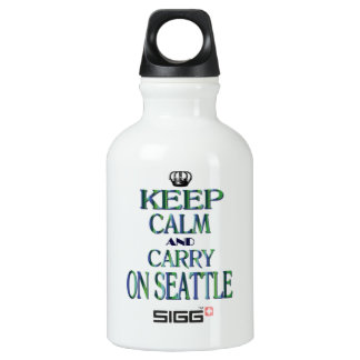 Keep Calm and Carry On Seattle Water Bottle