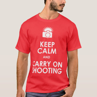 Keep Calm and Carry On Shooting Mens T T-Shirt