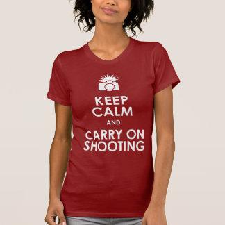 Keep Calm and Carry On Shooting Tees