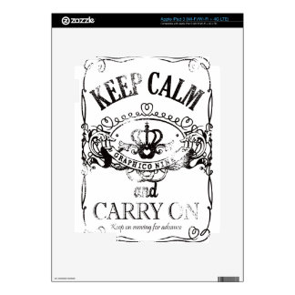 Keep Calm and Carry On Skins For iPad 3