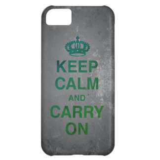 KEEP CALM AND CARRY ON / Slate Cover For iPhone 5C