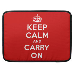 Macbook Pro 15' Flap Sleeve with Keep Calm and Carry On (Red) design