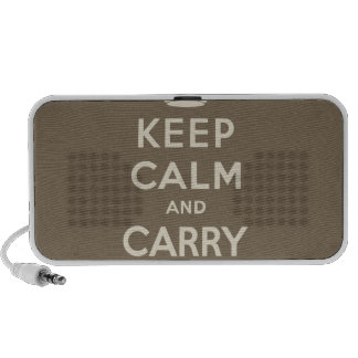 Keep Calm And Carry On Portable Speakers