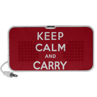 Keep Calm And Carry On Travel Speaker