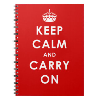 KEEP CALM AND CARRY ON -  spiral bound notebook