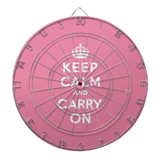 Keep Calm and Carry On Spring Pink Dart Boards
