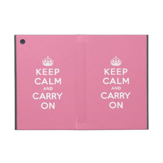 Keep Calm and Carry On Spring Pink iPad Mini Case