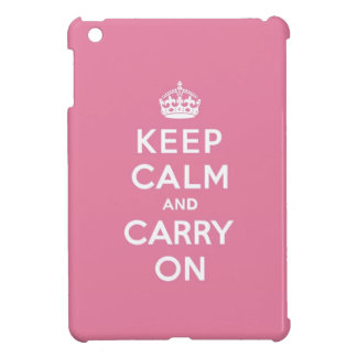 Keep Calm and Carry On Spring Pink iPad Mini Covers