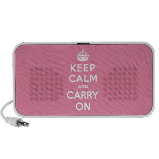 Keep Calm and Carry On Spring Pink Travel Speakers