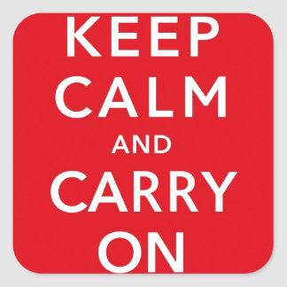 Keep Calm and Carry On Square Sticker