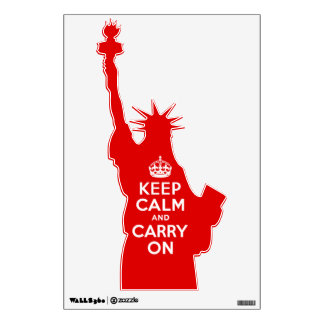 Keep Calm And Carry On Statue of Liberty Wall Sticker