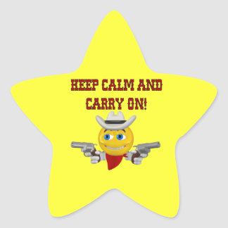 Keep Calm And Carry On Star Sticker