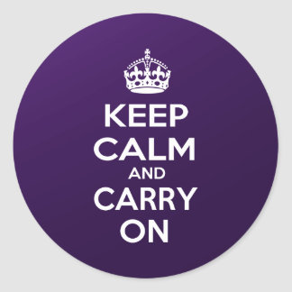Keep Calm and Carry On Round Stickers