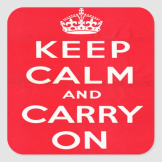 Keep Calm and Carry ON Square Stickers