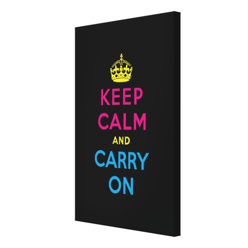 keep calm and carry on stretched canvas prints
