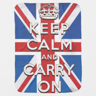 Keep Calm and Carry On Swaddle Blanket
