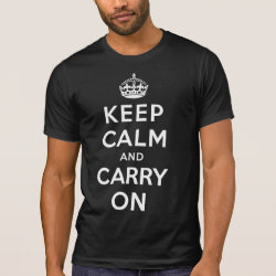 Men's Alternative Apparel Basic Crew Neck T-Shirt with Keep Calm and Carry On (Magenta) design