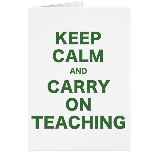 Keep Calm and Carry On Teaching Card