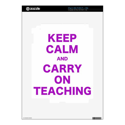 Keep Calm and Carry On Teaching Decals For iPad 2