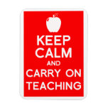 keep calm and carry on teaching magnet gift